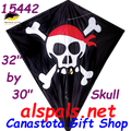 "15442  Skull & Crossbones: Diamond 30"" Kites by Premier (15442)"