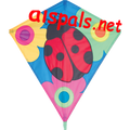 "Ladybugs & Flowers : 30"" Diamonds (15318) Kite"