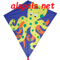 "Olaf Octopus : 30"" Diamonds (15341) Kite"