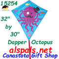 "15254   Dapper Octopus: Diamond 30"" Kites by Premier (15254)"