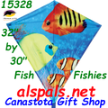 "15328   Fishy Fishes: Diamond 30"" Kites by Premier (15328)"