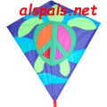 "Peace Turtle : 30"" Diamonds (15335) Kite"