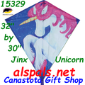 "15329  Unicorn Jinx: Diamond 30"" Kites by Premier (15329)"