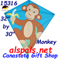 "15316  Monkey: Diamond 30"" Kites by Premier (15316)"