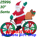 "25996 Santa 30"" : Bicycle Spinners (25996)"