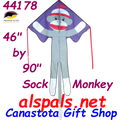 44178  Monkey ( Sock ): Large Easy Flyer Kites by Premier (44178)