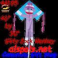 44195  Monkey ( Girly Sock ): Large Easy Flyer Kites by Premier (44195)