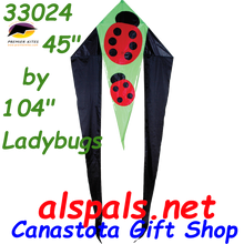 """33024  Ladybug: Delta Flo-Tail 45"""" Kites by Premier (33024)"""