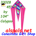 """33028  Calypso: Delta Flo-Tail 45"""" Kites by Premier (33028)"""