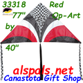 33318  Red OP-Art: Delta X Kites by Premier (33318)