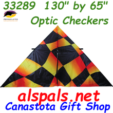 33289  Optic Checkers: Delta 11 ft Kites by Premier (33289)