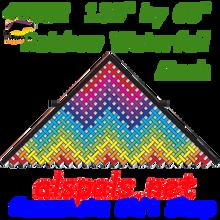 45352  Rainbow Waterfall Mesh: Delta 11 ft Kites by Premier (45352)