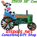 "25939 Cow on a Tractor 38"" : Tractor Spinners (25939)"