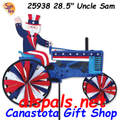 "25938 Uncle Sam on a Tractor: Tractor 28"" Spinners (25938)"