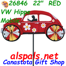 """26846  22"""" Red VW Hippie Mobile: Vehicle Spinners (26846)"""