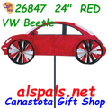 "26847  24"" Red VW Beetle: Vehicle Spinners (26847)"