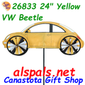 "26833  24"" Yellow VW Beetle: Vehicle Spinners (26833)"