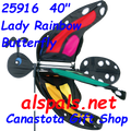 """25916 Butterfly Lady Rainbow 40""""   Bug Spinners (25916)"""