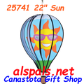 "25741 Sun 22"" Hot Air Balloons (25741) Wind Spinner"