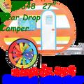 25648 Teardrop Camper: Vehicle Spinners (25648)