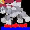 "21891  Dog SCHNAUZER 16"" : Whirligig Wing Spinner (21891)"