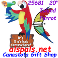 """25681  20"""" Island Parrot : Party Animals (25681).  For those that live in high sun areas ( U V Rays ) or that want the best for their out door treasures order #22795 UV Tech 4oz or #22798 UV Tech 12oz"""