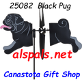 25082 Dog (BLACK PUG) : Petite & Whirly Wing Spinner (25082)