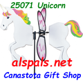 25071 Horse ( UNICORN ) : Petite & Whirly Wing Spinner (25071)