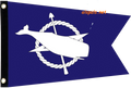 Nantucket Whale 2 Colors  Seafarer Flag