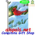 Winter Glow Cardinal Garden Flag by Premier Illuminated (56155)