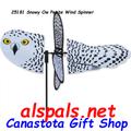 "25181 Snowy Owl 19.5"": Petite Wind Spinner (25181)"