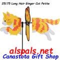 """25175 Ginger Cat 19.5"""": Petite Wind Spinner (25175)"""