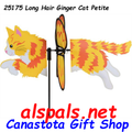 "25175 Ginger Cat 19.5"": Petite Wind Spinner (25175)"