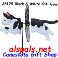 "25176 Black & White Cat 19.5"": Petite Wind Spinner (25176)"