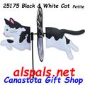 """25176 Black & White Cat 19.5"""": Petite Wind Spinner (25176)"""