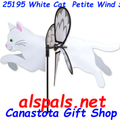 "25195 Cat ( White ) 19.5"": Petite Wind Spinner (25195)"