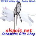 "25195 Cat ( White ) 19.5"": Petite Wind Spinner (25195)"