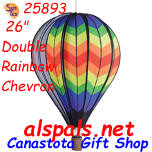 "25893 Double Chevron Rainbow 26"" Hot Air Balloons (25893)"