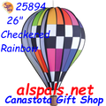 "25894 Checkered Rainbow 26"" Hot Air Balloons (25894)"
