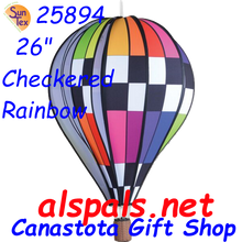 "25894 Checkered Rainbow 26"" Hot Air Balloons (25894)"