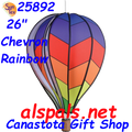 "25892  Chevron Rainbow 26"" Hot Air Balloons (25892)"
