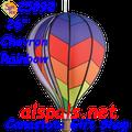 """25892  Chevron Rainbow 26"""" Hot Air Balloons (25892)"""