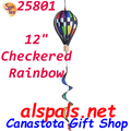 25801 Checkered Rainbow : 12 in Hot Air Balloon (25801)