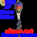 25804  Chevron Rainbow : 12 in Hot Air Balloon (25804)