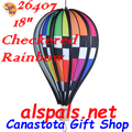 "26407  Checkered Rainbow 18"" Hot Air Balloons (26407)"