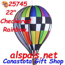 "25745 Checkered Rainbow 22"" Hot Air Balloons (25745)"