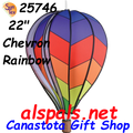 "25746  Chevron Rainbow 22"" Hot Air Balloons (25746)"