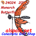 """24024 Butterfly Monarch 17""""    Bug Spinners (24024)"""
