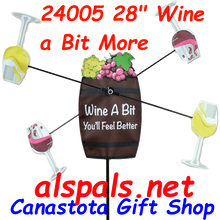 """24005 Wine a Bit More 28"""" : Whirligig (24005)"""
