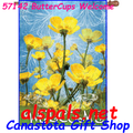 57142 Buttercups Welcome : PremierSoft House Flag (57142)